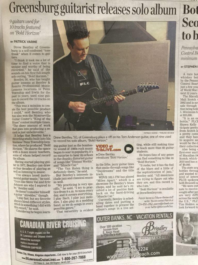 Drew Bentley Tribune Review Bold Horizon interview